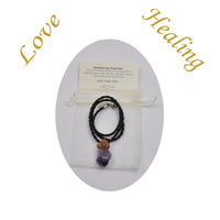 Amethyst Raw crystals healing  stone necklace natural gemstone pendant