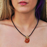 Carnelian crystals healing  stone necklace natural gemstone pendant