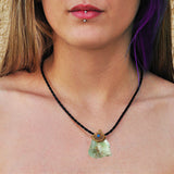Chrysoprase crystals healing  stone necklace natural gemstone pendant