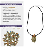 Pyrite crystals healing  stone necklace natural gemstone pendant