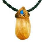 Citrine crystals healing  stone necklace natural gemstone pendant