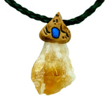 Citrine raw crystals healing  stone necklace natural gemstone pendant
