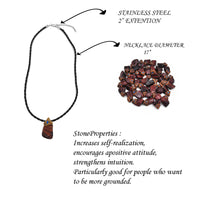 Tiger Eye Red crystals healing  stone necklace natural gemstone pendant