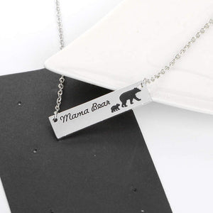 Silver Mama Bear Necklace