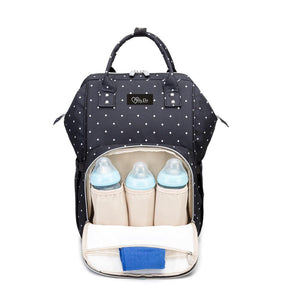 Mommy Diaper Bag (Black & White Dots)