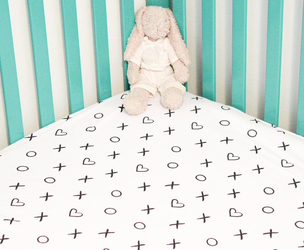 Baby Crib Sheet-White