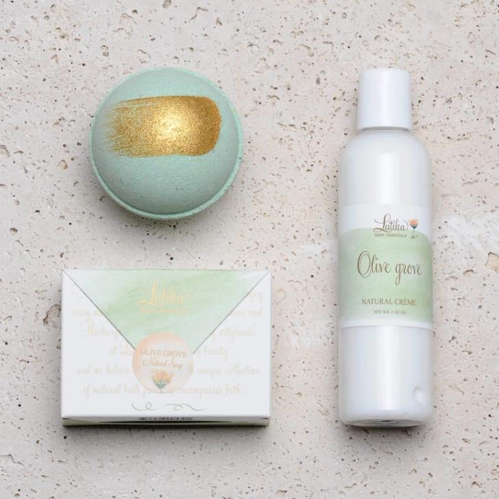 Olive Grove Bath Gift Set