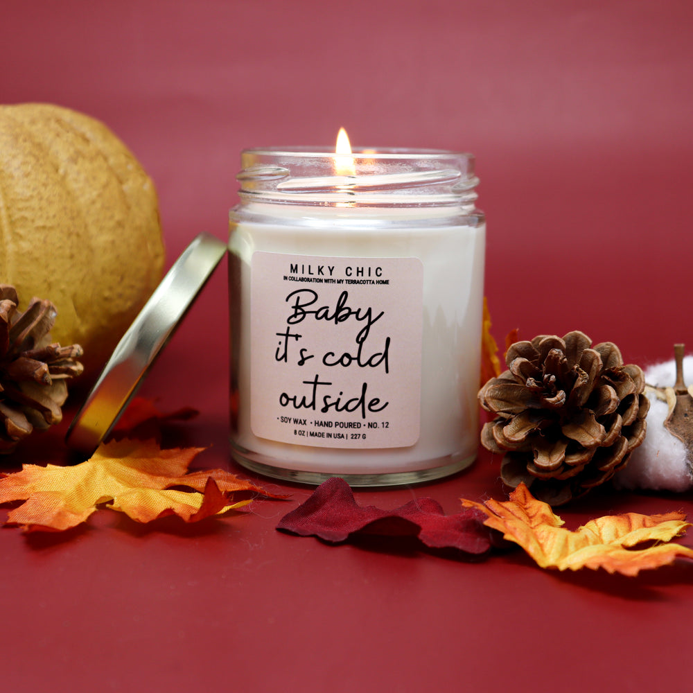 'Baby it's cold outside' Candle