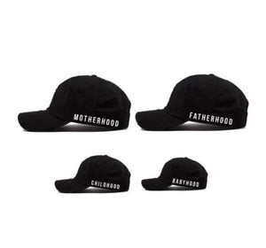 "The ""Hood"" Hat Collection - Motherhood, Fatherhood, Childhood, Babyhood- Matching Hats"