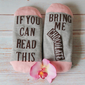 """If You Can Read This"" Funny Socks"