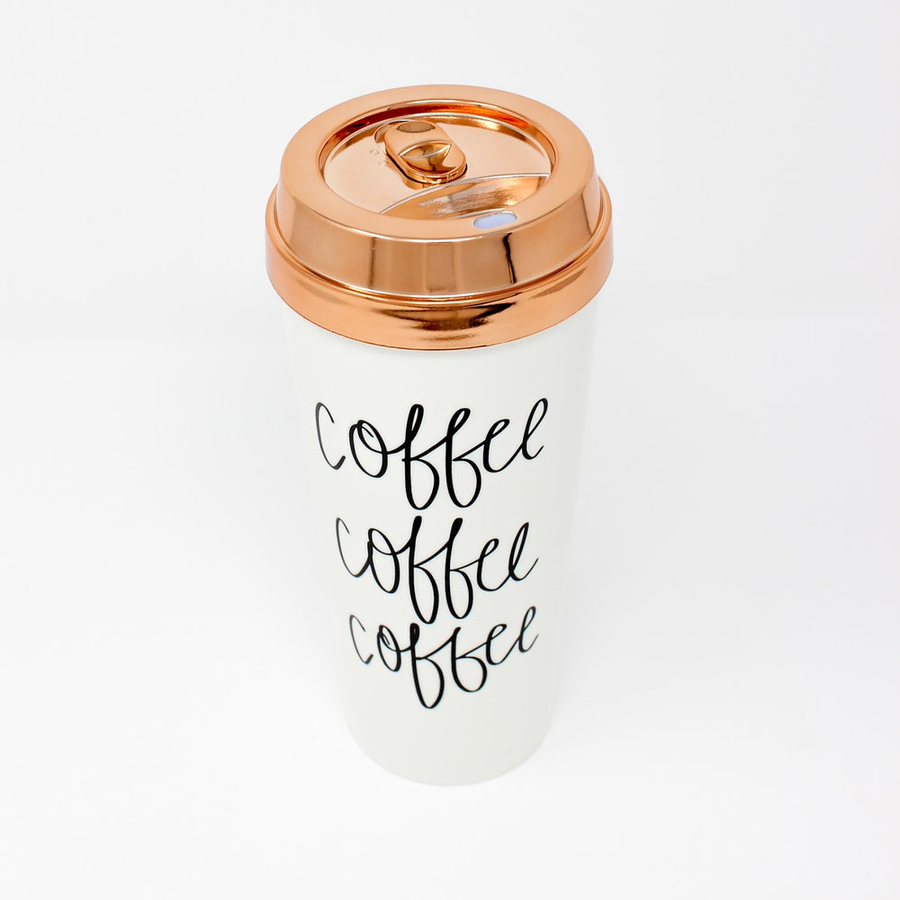 'Coffee Coffee Coffee' Travel Mug