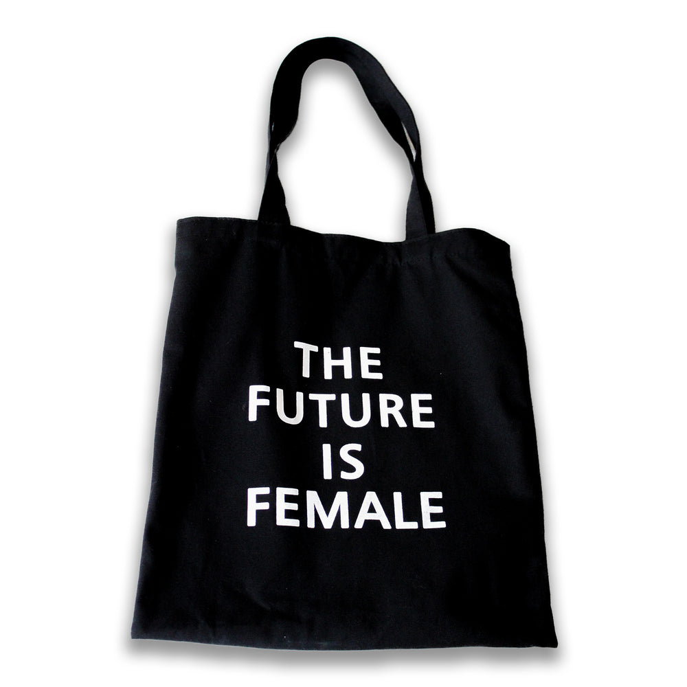 The future is female Black Canvas Bag
