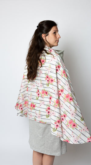 'Blooming gardens'-Milky Chic Floral Nursing Poncho