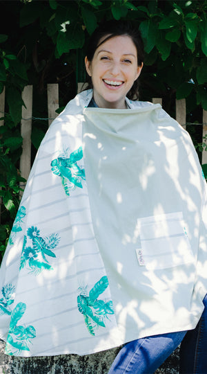 'Tropical Breeze'-Milky Chic 360 Nursing Poncho