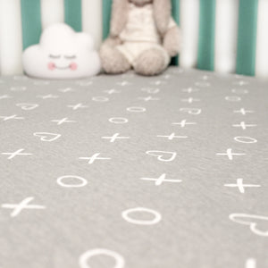 Baby Crib Sheet-Gray