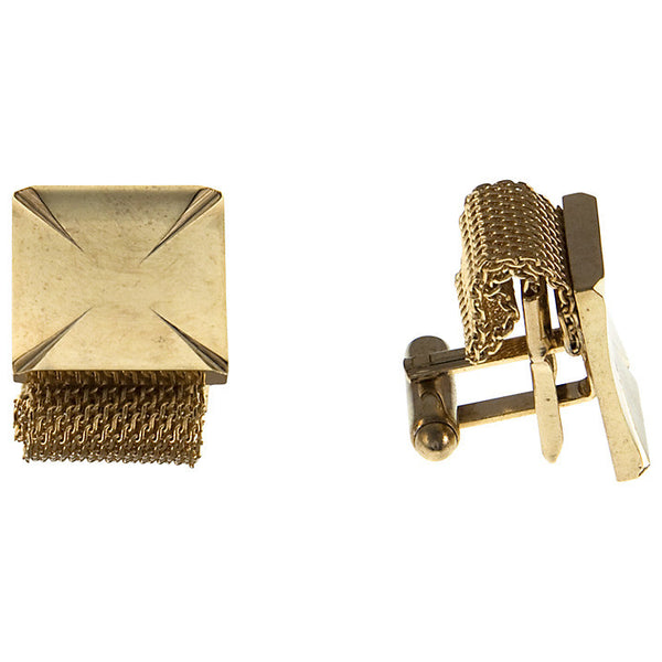 Gold Plated Mesh Cufflinks