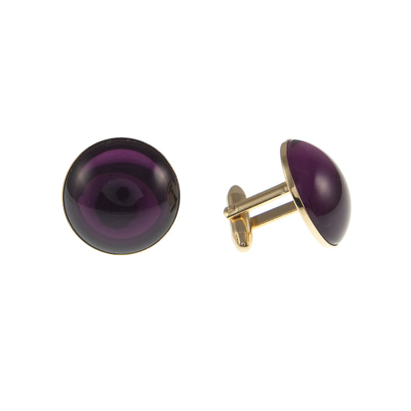 1970s Purple Glass Cufflinks