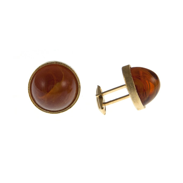 Brown, Marbled Glass Cufflinks, 1950s