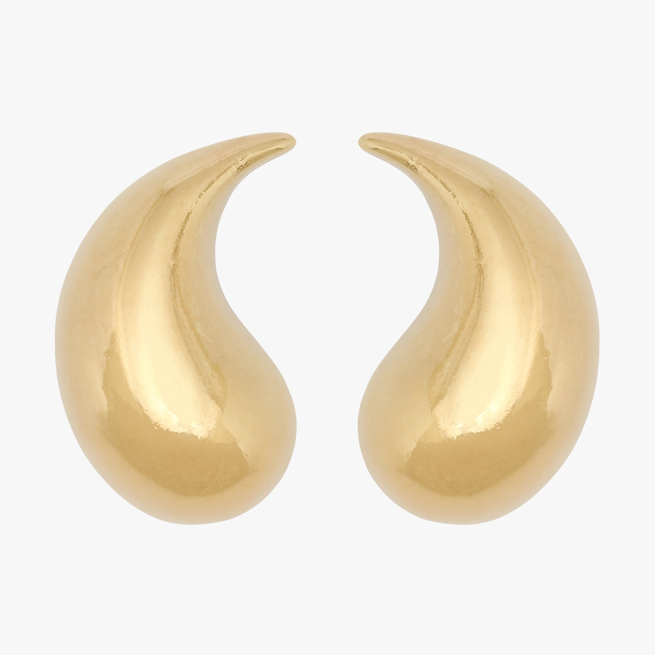 Gold plated  comma clip on earring