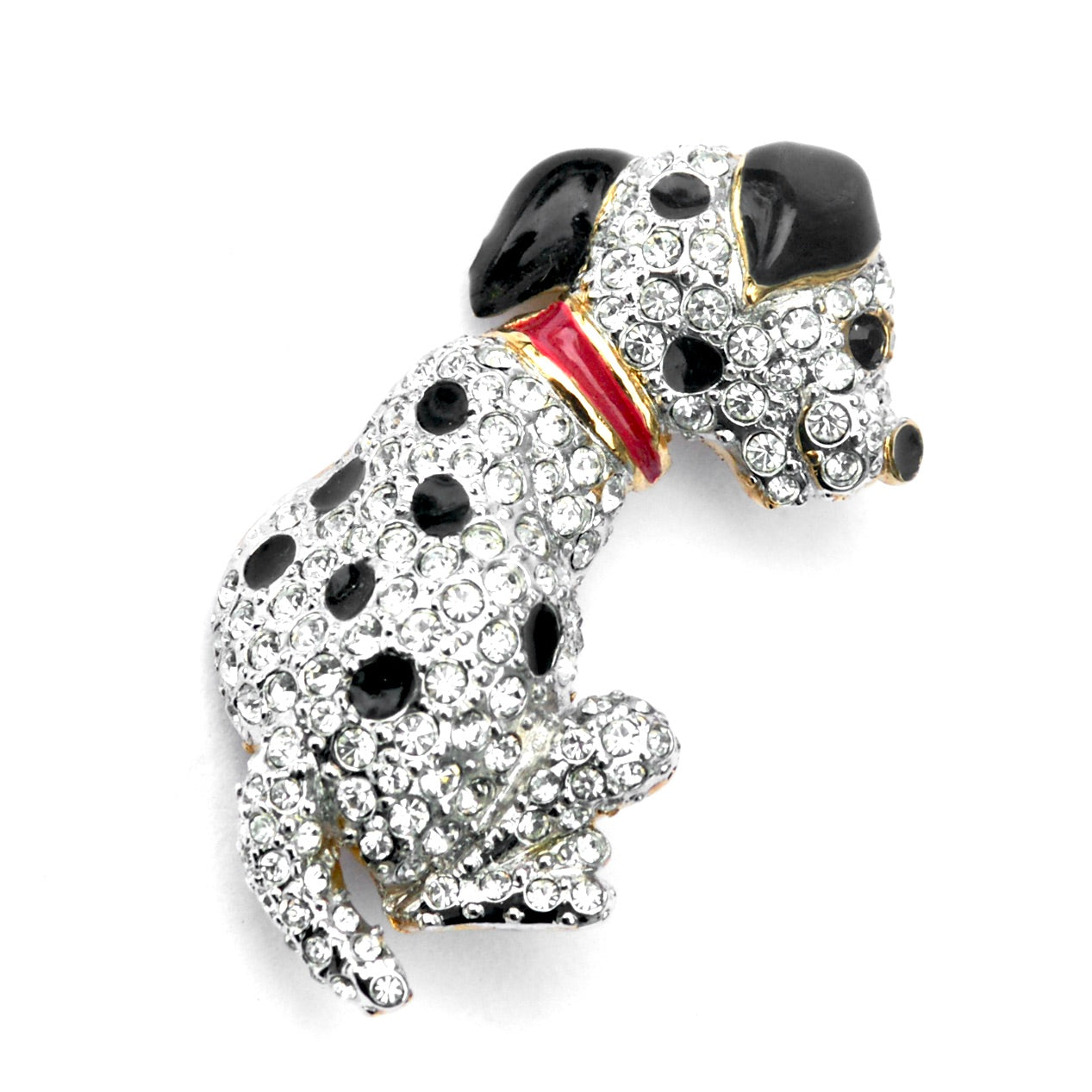 Eclectica Vintage Jewellery | UK | 1980s Vintage Attwood & Sawyer Dalmatian Brooch