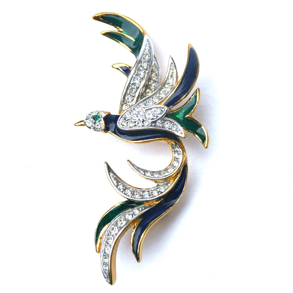 1980s Vintage Attwood & Sawyer Bird of Paradise Brooch