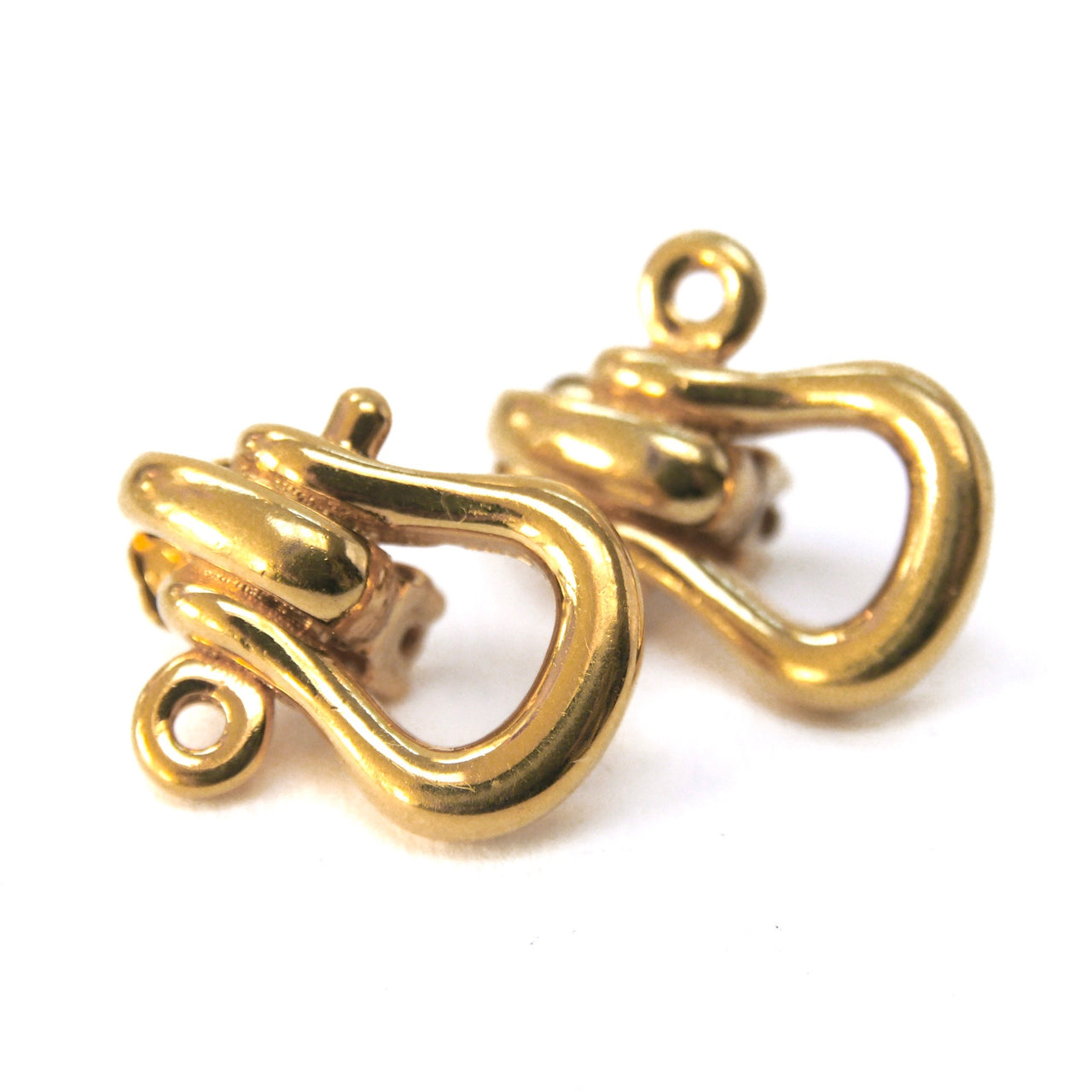 Burberrys Clip On Earrings, Gold Plate