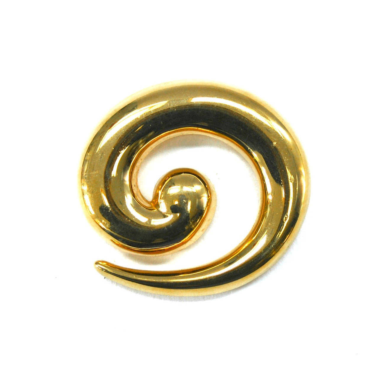 1980s Vintage Money Swirl Brooch