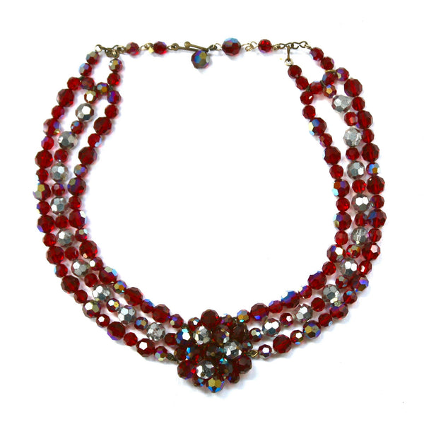 1960s Vintage Glass Bead Choker
