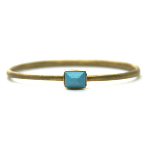 Eclectica Vintage Jewellery Vintage sterling silver gilt and turquoise bangle