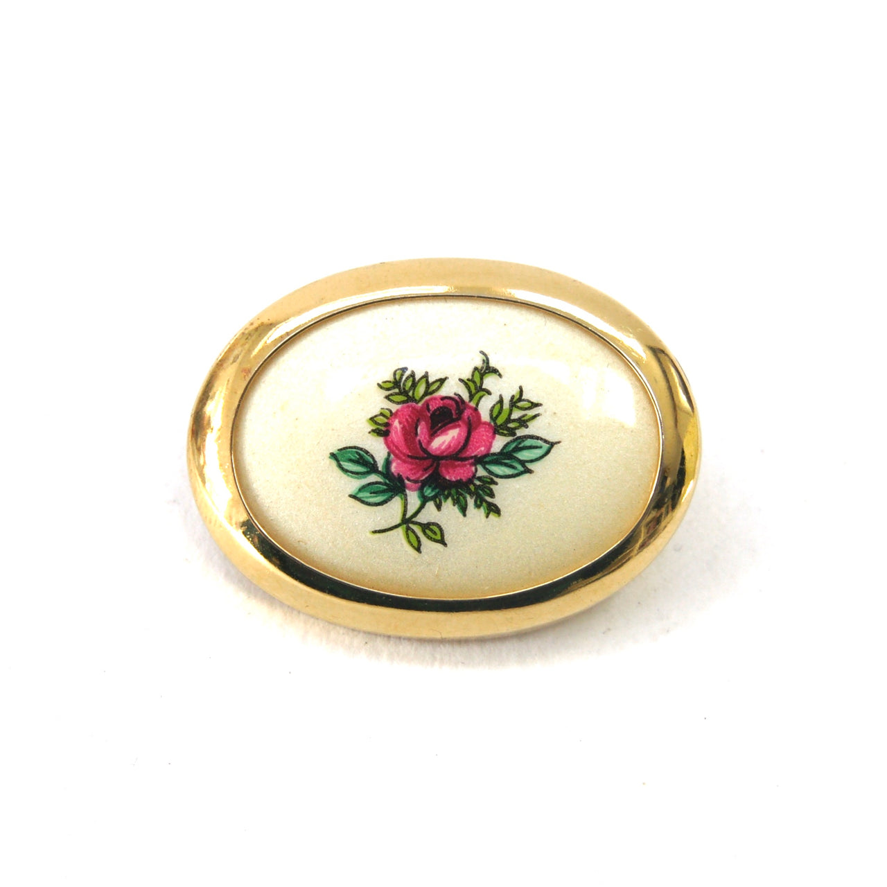 1950s Small Rose Brooch