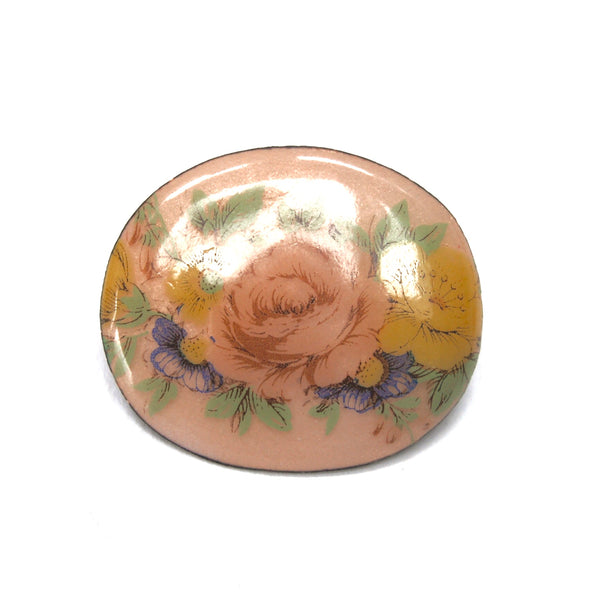 Small Floral Brooch, Peach