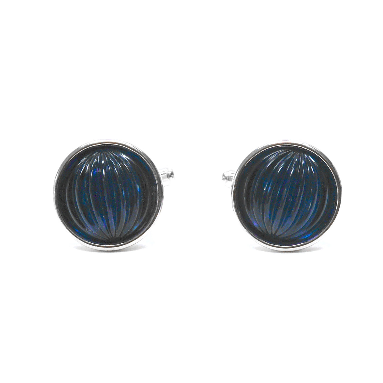 1960s Navy Glass Cufflinks