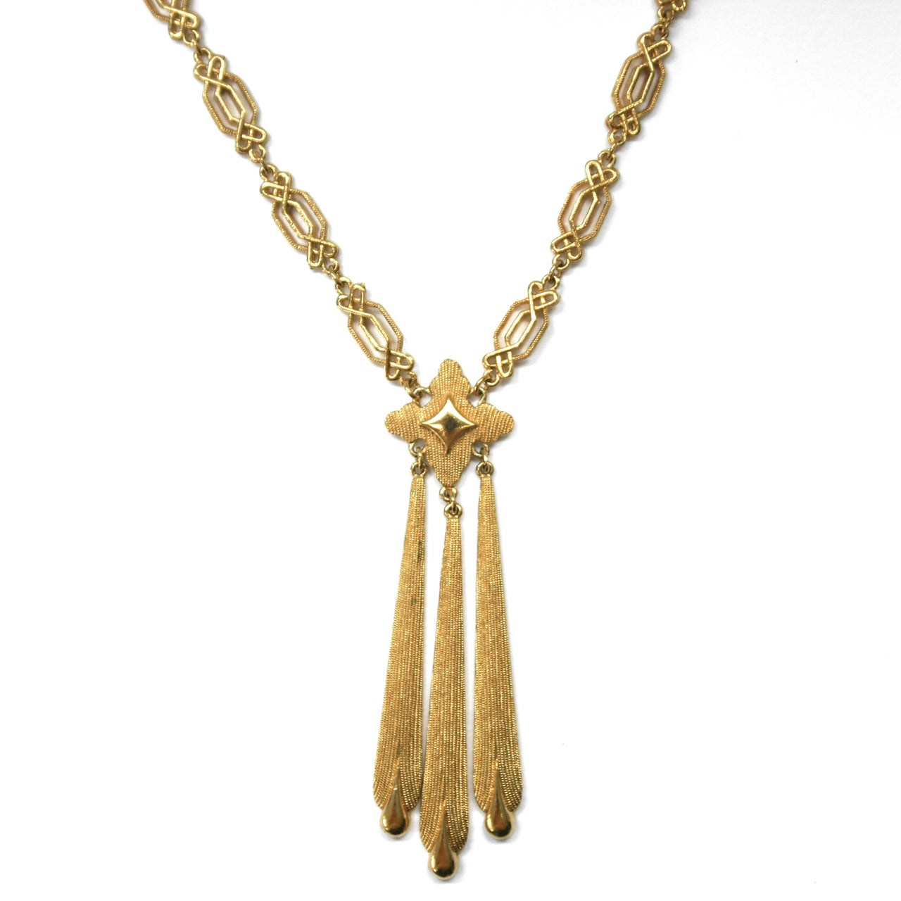 Eclectica Vintage Jewellery | UK | 1970s Vintage Trifari gold plated neckace