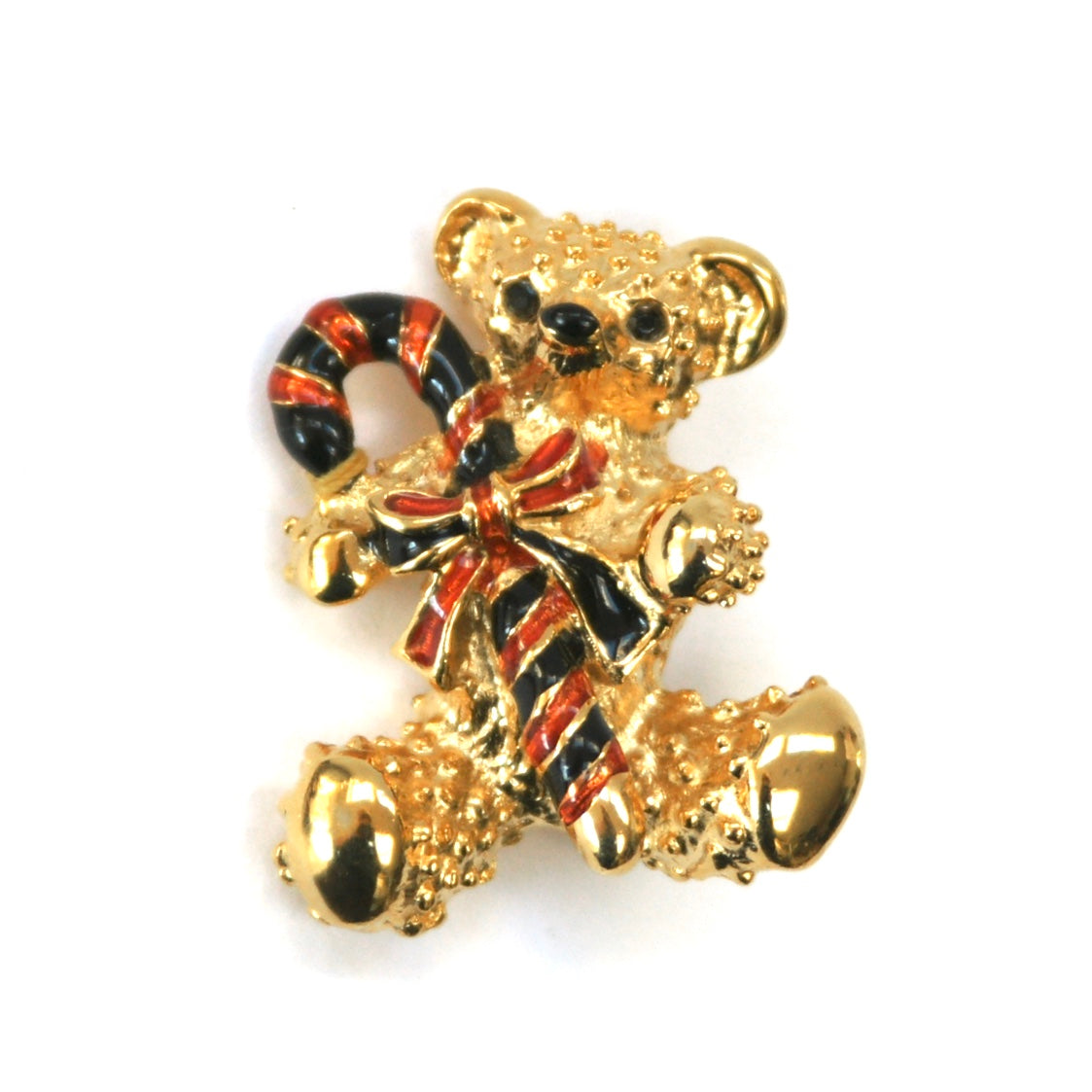 Eclectica Vintage Jewellery | UK | 1980s Vintage Christmas Teddy Bear Brooch