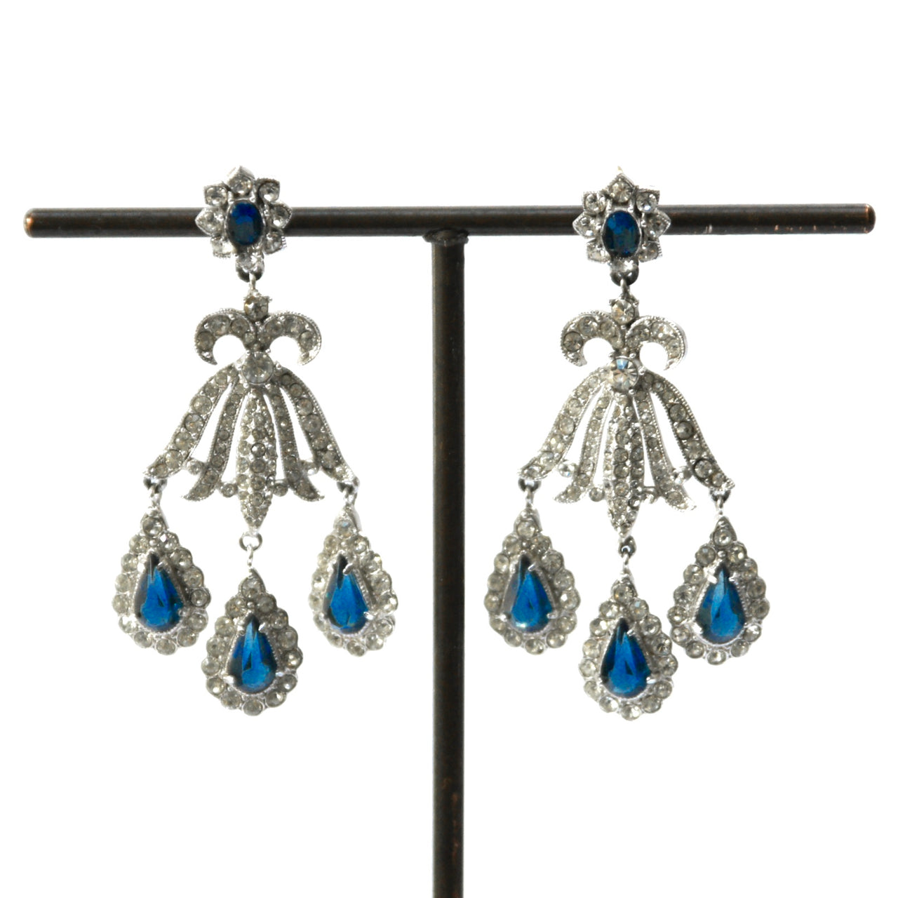 Eclectica Vintage Jewellery | UK | 1960s Vintage Chandelier Earrings, Pierced