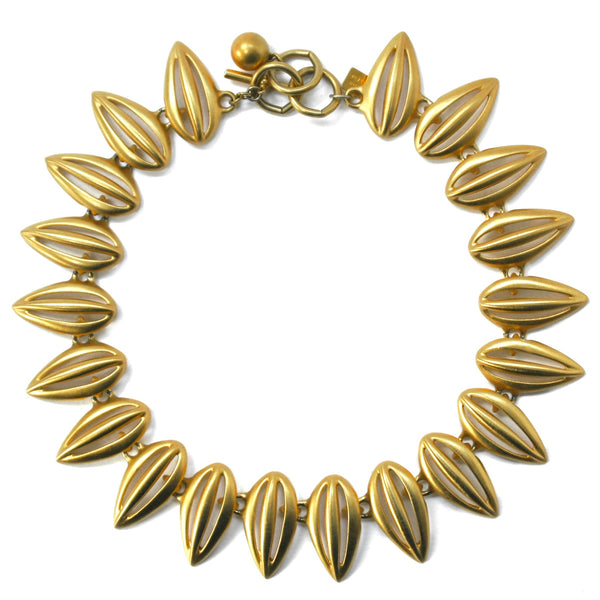 Eclectica Vintage Jewellery | UK | 1980s Vintage Anne Klein Necklace, Matte Gold Plate