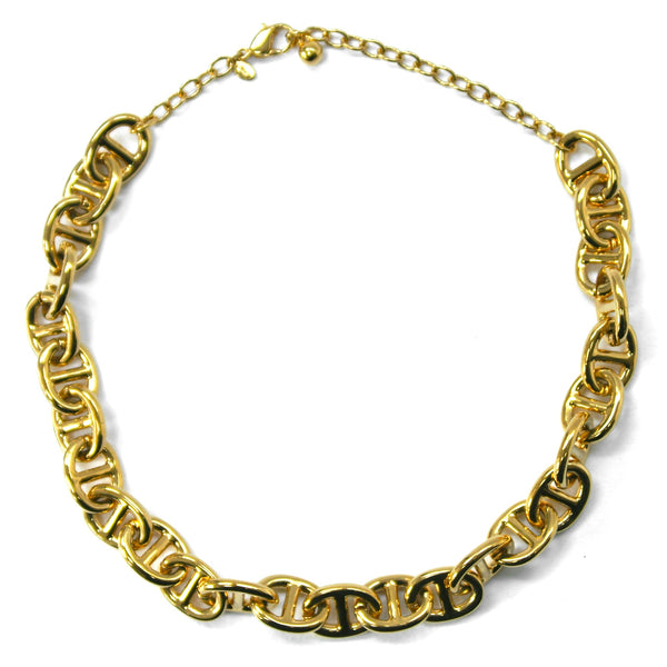 Eclectica Vintage Jewellery | UK | 1980s Vintage Monet Anchor Chain Necklace