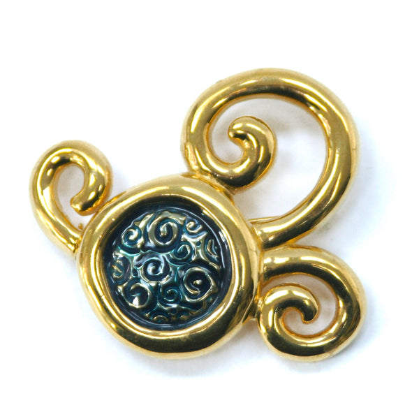 Eclectica Vintage Jewellery | UK | 1980s Vintage Givenchy Swirls Brooch