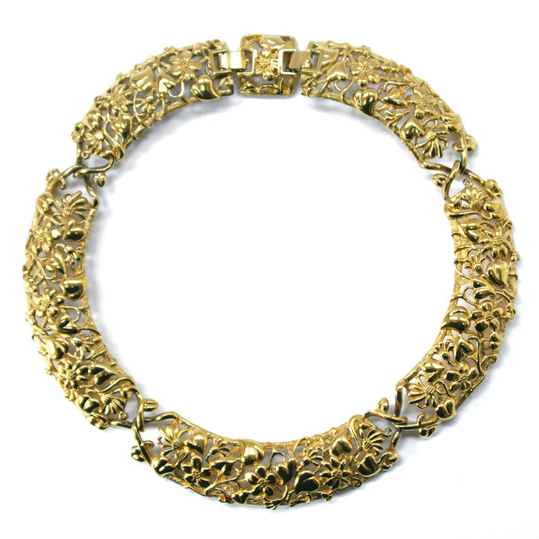 Eclectica Vintage Jewellery | UK | 1980s Vintage Monet Floral Collar