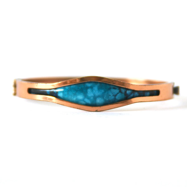 Eclectica Vintage Jewellery | UK | 1960s Vintage Matisse Renoir Copper Hinged Bangle