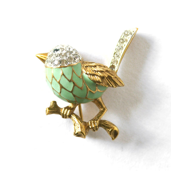 Eclectica Vintage Jewellery | UK | 1980s Vintage Attwood & Sawyer Bird Brooch
