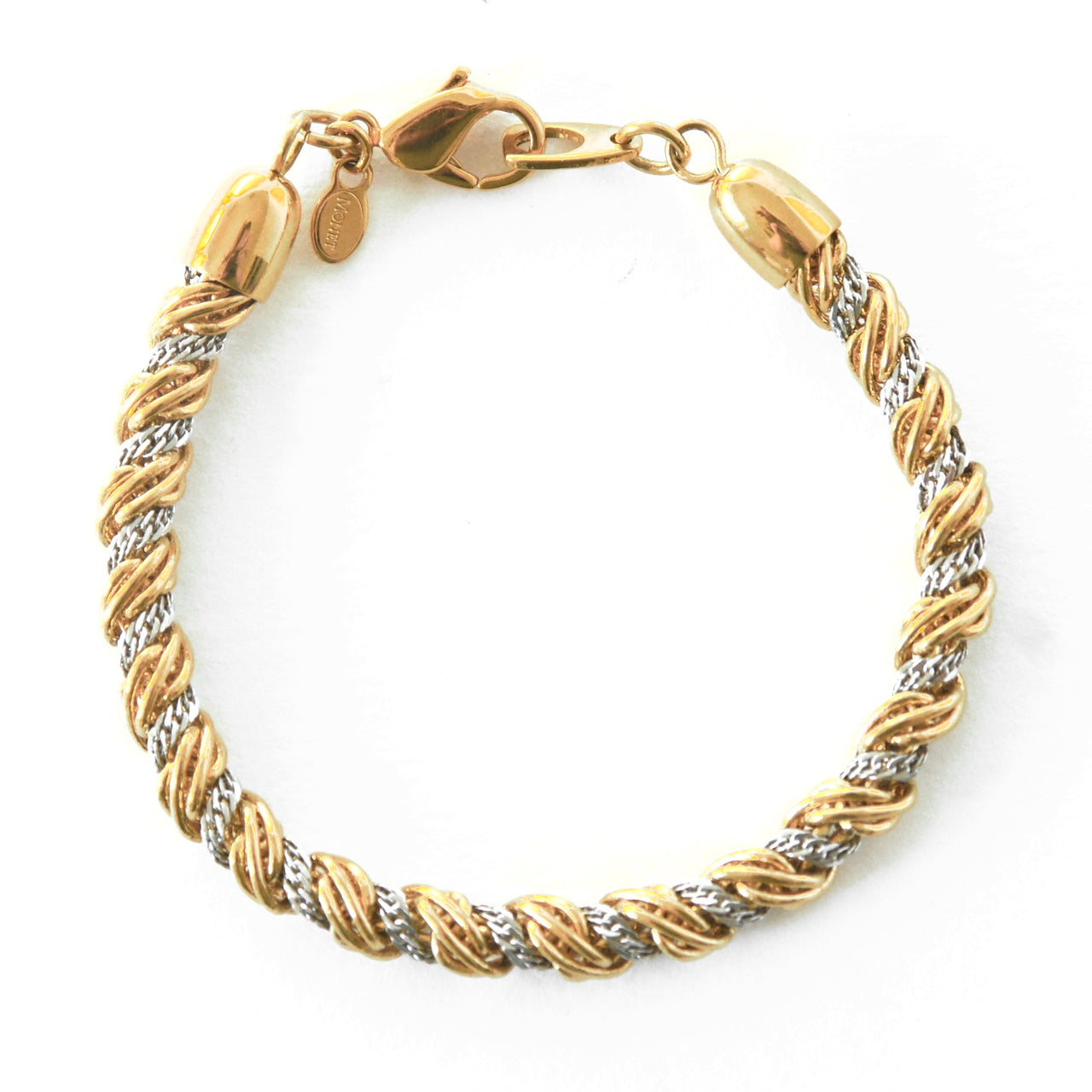 1980s Vintage Monet Twisted Rope Chain Bracelet