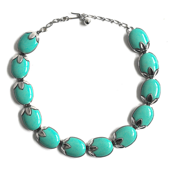 Eclectica Vintage Jewellery | UK | 1960s Vintage Trifari Necklace, Turquoise