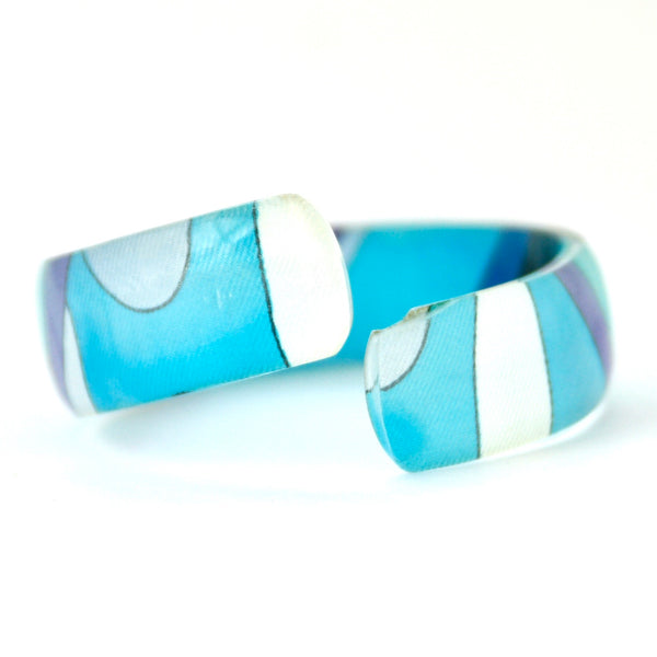 1970s Vintage Emilio Pucci Bangle, Blue