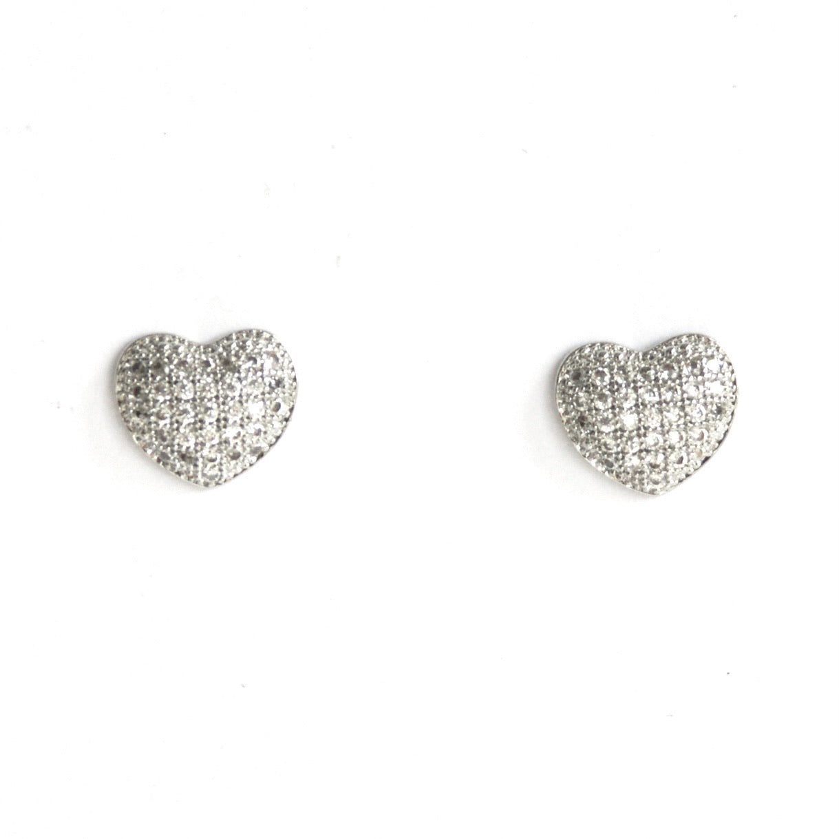 Diamanté Heart Studs