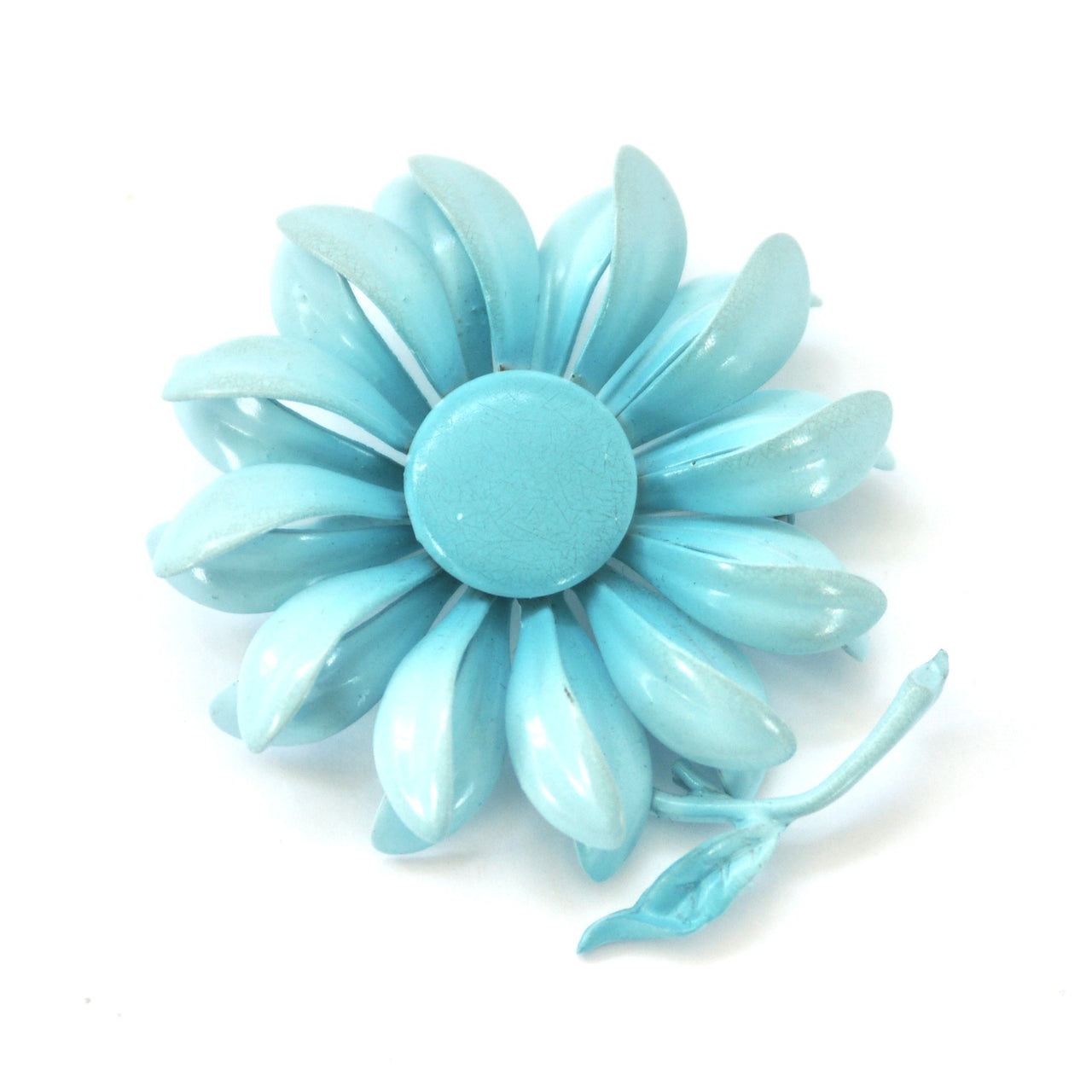 1960s Flower Brooch, Sky Blue
