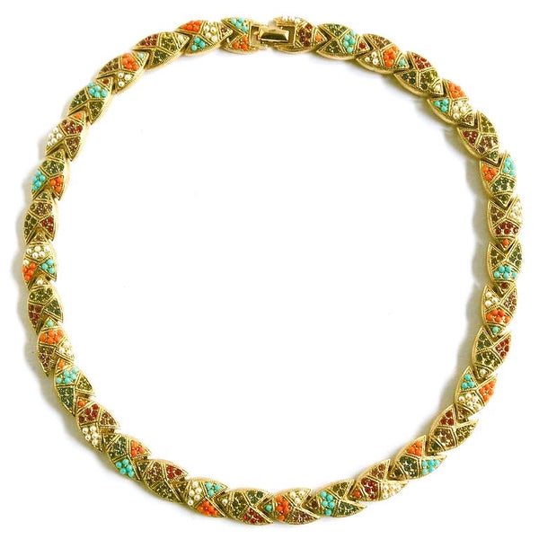 1960s Vintage D'Orlan Multicolour Necklace