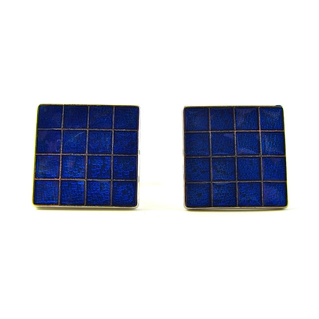 Fathers Day gift, fathers day, cufflinks, gift box, blue, enamel