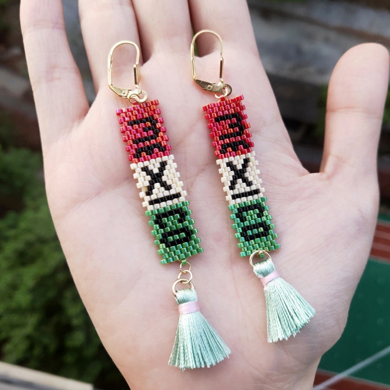 MEXICO Boho Tassel Drop Earrings - Eye see no evil