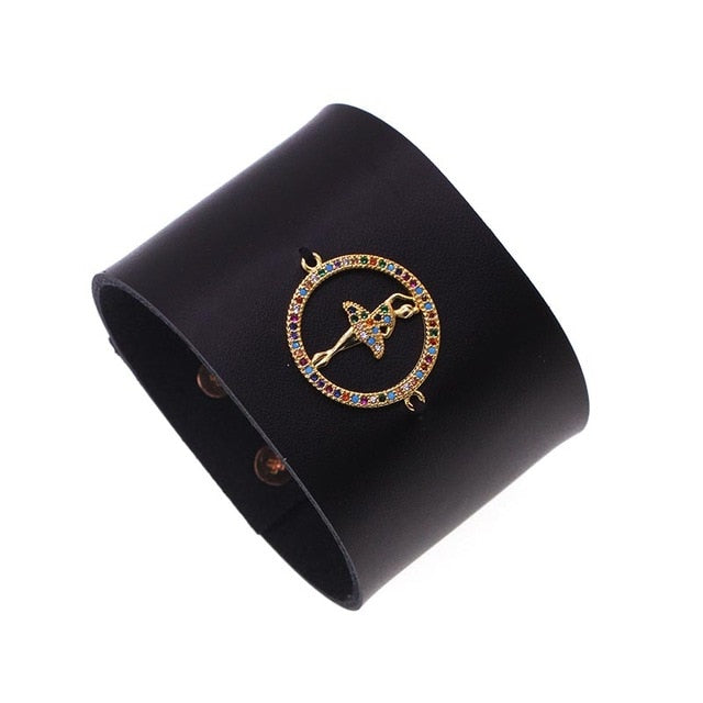 Bold n beautiful Eye leather bracelet - Eye see no evil